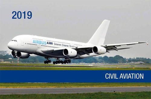 Nástenný letecký kalendár 2019 - Civil Aviation