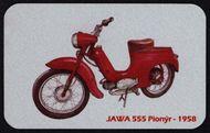 Kovová magnetka - Motív Jawa 555 Pionýr 1958