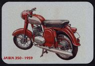 Kovová magnetka - Motív Jawa 350 - 1959