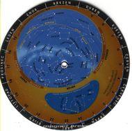 Otočná mapa hviezdnej oblohy (okrúhla)