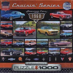 Puzzle 1000: Klasické americké autá 60. rokov (American Cars of the 1960)
