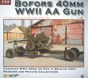 Bofors 40mm WWII AA gun in deatail
