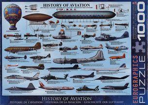 Puzzle 1000: História letectva (History of Avitation)