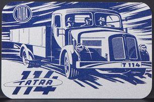 Kovová magnetka - Motív Tatra 114