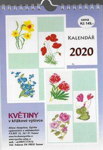 Nástenný kalendár - Květiny v křížkové výšivce