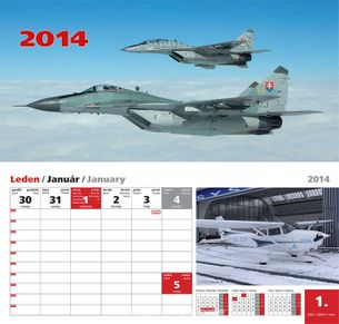 Stolový letecký kalendár 2014
