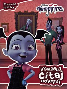 Vampirina - Vyfarbuj, čítaj, nalepuj